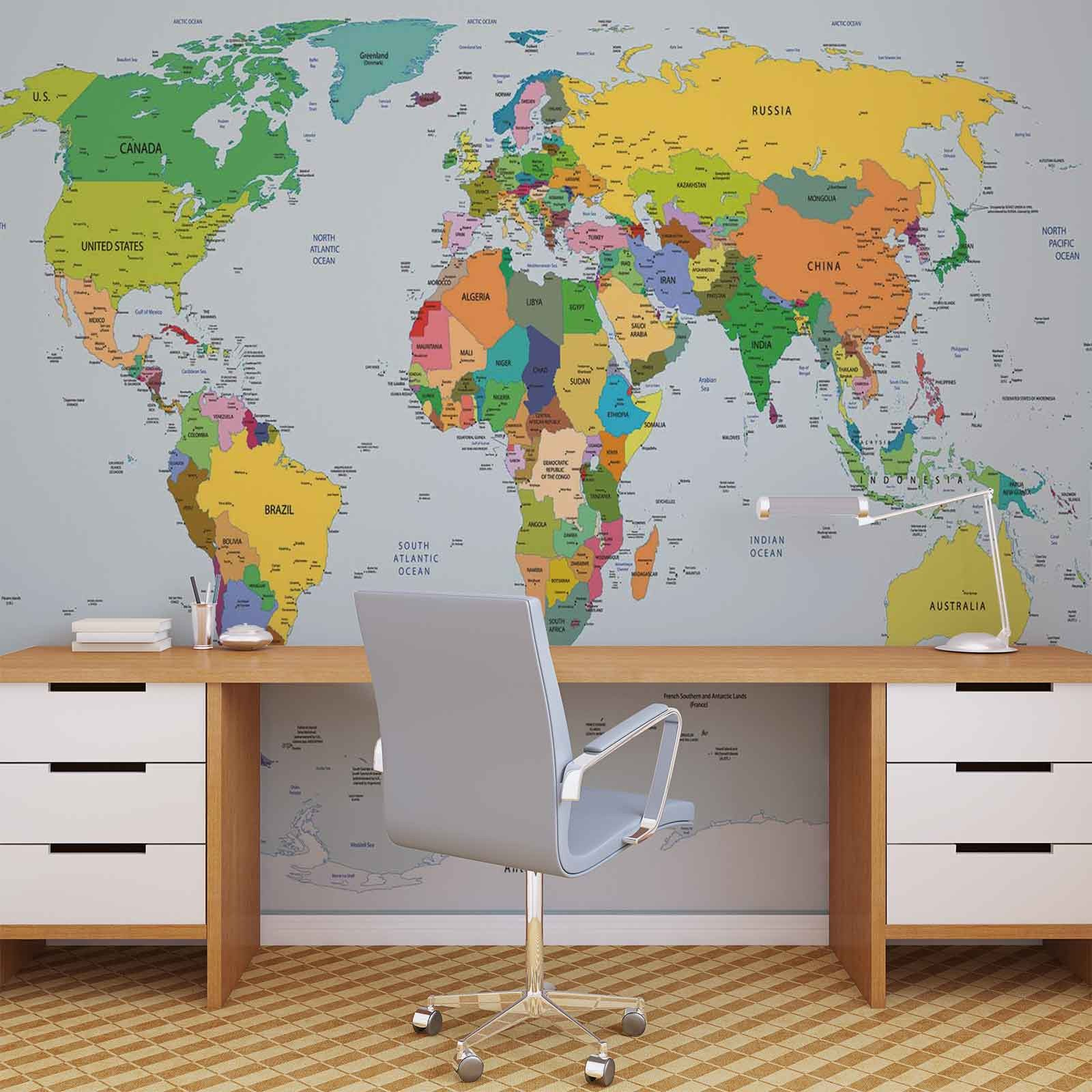 368 254 World Map Karta Mapa Sveta 3d Fototapeta Zidni Mural Foto