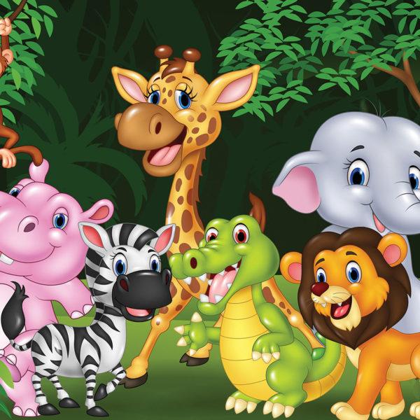11412P8___animals_safari_africa_animirane_zivotinje_lav_slon_zirafa_majmun