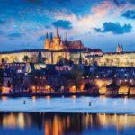 3250P4___prague_city_vltava_river_reflection_sunset_prag_grad_reka