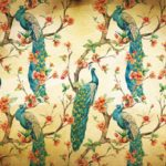 3584P4___peacocks_flowers_vintage_pattern