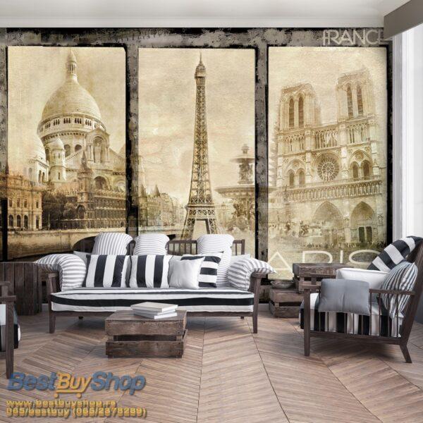 021p4-2 pariz ajfel kula sena francuska france paris razglednica fototapeta foto tapeta 3d tapete fototapet