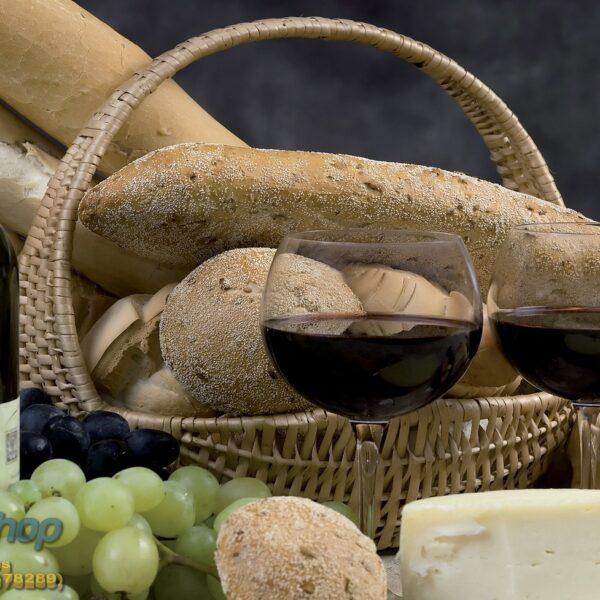 101p4 vino grozdje hleb sir kuhinja fototapeta foto tapeta 3d tapete fototapet