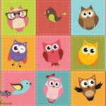 1035p8 colourful owls