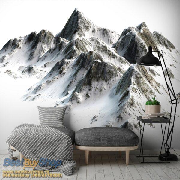 10631p4-6 planina vrh sneg fototapeta foto tapeta 3d tapete fototapet