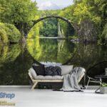 11747P8-1 most jezero reka suma fototapeta foto tapeta 3d tapete fototapet