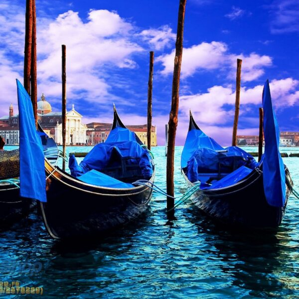 141P4 venice three gondolas