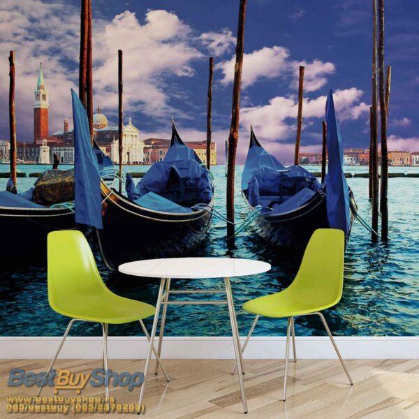 141p4-4 gondola venecija italija reka more fototapeta foto tapeta 3d tapete fototapet