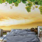 2330p8-2 jesen grozdje priroda zalazak sunca fototapeta foto tapeta 3d tapete fototapet