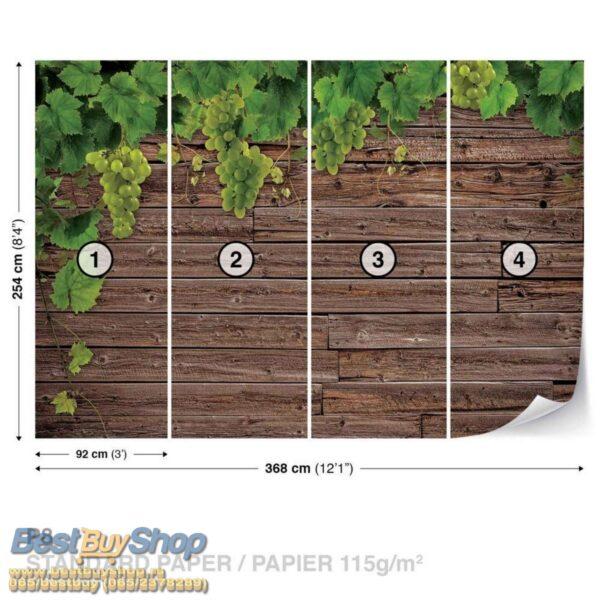 2335p8-2 grozdje daske priroda vino fototapeta foto tapeta 3d tapete fototapet