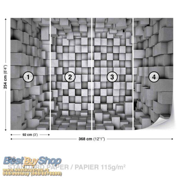 2505p8-2 kocke siva fototapeta foto tapeta 3d tapete fototapet