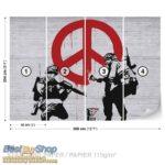 2730P8-4 banksy grafit street art peace mir fototapeta foto tapeta 3d tapete fototapet