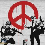2730P8 banksy peace soldiers