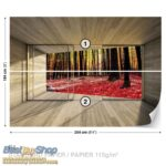3296P4-1 suma drvo lisce jesen fototapeta foto tapeta 3d tapete fototapet