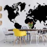 3604P8-2 maps mapa kontinenti svet karta crno belo fototapeta foto tapeta 3d tapete fototapet _03