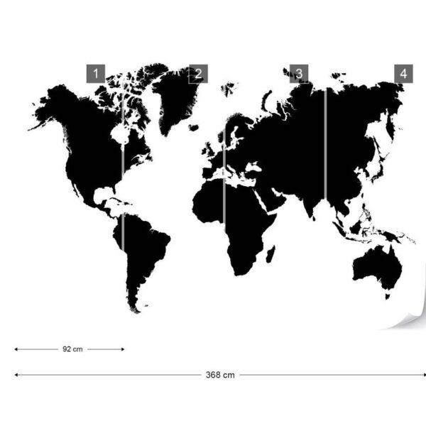 3604P8-3 maps mapa kontinenti svet karta crno belo fototapeta foto tapeta 3d tapete fototapet _04