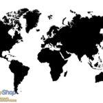 3604P8 World map BW