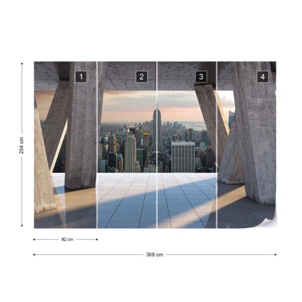 3649p8-3 new york njujork manhattan menhetn grad fototapeta foto tapeta 3d tapete fototapet