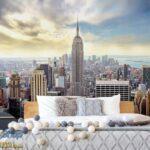 49645P8-6 49645p8 new york manhattan menhetn skyline njujork grad fototapeta foto tapeta 3d tapete fototapet
