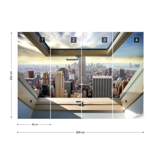 49648p8-3 new york panorama window njujork menhetn grad fototapeta foto tapeta 3d tapete fototapet