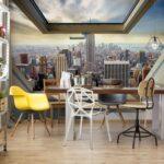 49648p8-4 new york panorama window njujork menhetn grad fototapeta foto tapeta 3d tapete fototapet