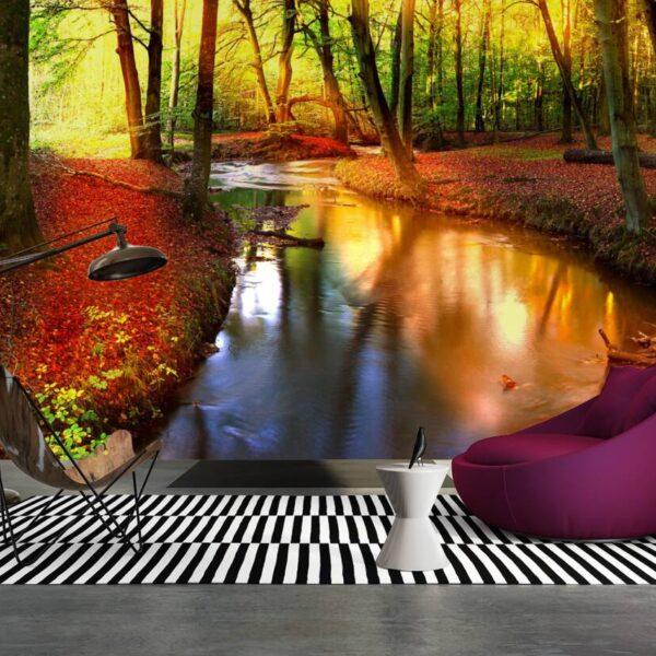 49654p8-3 potok reka suma jesen priroda fototapeta foto tapeta 3d tapete fototapet