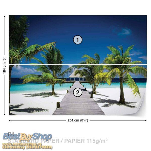 50225p4-1 plaza palma pesak okean fototapeta foto tapeta 3d tapete fototapet