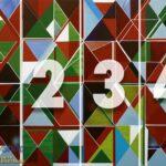 5169-4P-1-P8-2 trouglovi zelena plava crvena fototapeta foto tapeta 3d tapete fototapet