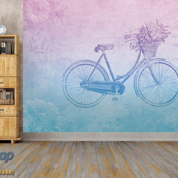 5175-4P-1p8-2 vintage bicycle bicikl cvece korpa fototapeta foto tapeta 3d tapete fototapet