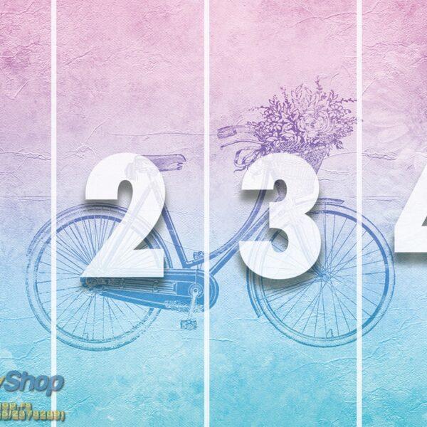5175-4P-1p8-3 vintage bicycle bicikl cvece korpa fototapeta foto tapeta 3d tapete fototapet