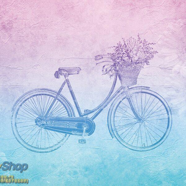 5175-4P-1p8 vintage flower bicycle
