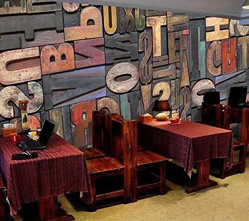 5187-4P-1p8-9 Vintage Letters slova fototapeta foto tapeta 3d tapete fototapet