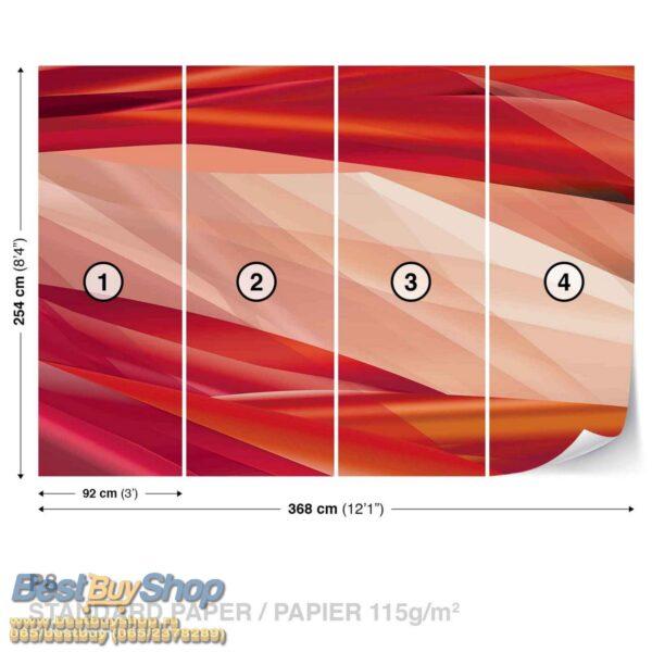 568P8-1 crveno apstrakcija fototapeta foto tapeta 3d tapete fototapet
