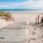 74125P8 wooden road by north sea