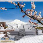 8-006P8-7 cvece planina sneg priroda fototapeta foto tapeta 3d tapete fototapet