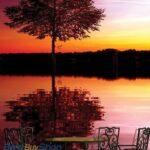 8-007P8-2 drvo jezero reka priroda fototapeta foto tapeta 3d tapete fototapet