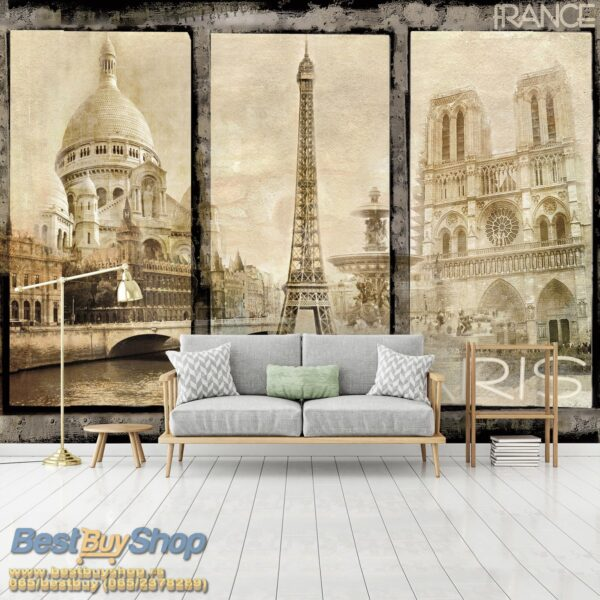 8-021p8-7 pariz ajfel kula sena francuska france paris razglednica fototapeta foto tapeta 3d tapete fototapet