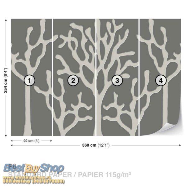 877P8-1 drvo siva apstrakcija fototapeta foto tapeta 3d tapete fototapet