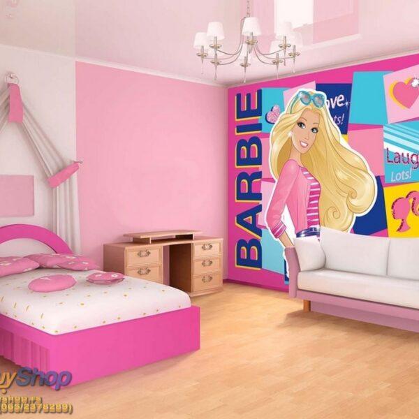 987p8-1 barbie pink barbika fototapeta foto tapeta 3d tapete fototapet