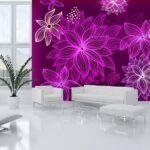 255P8-1 lila ljubicasta pozadina cvece cvetovi 3d fototapeta foto tapet tapeta zidni mural