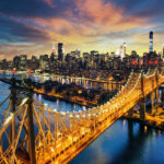 32773680 – new york city – amazing sunset over manhattan with queensboro bridge